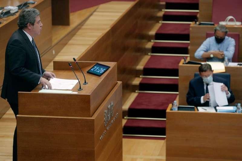 El portavoz del grupo parlamentario de VOX en Les Corts Jose Maria Llanos. EFE/ Kai Försterling