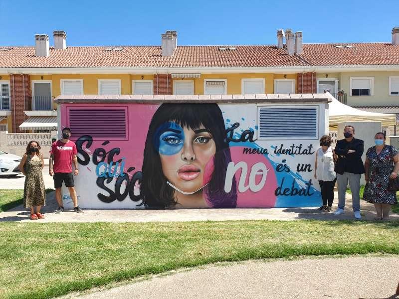 Mural LGTBIQ+ a Sueca./EPDA
