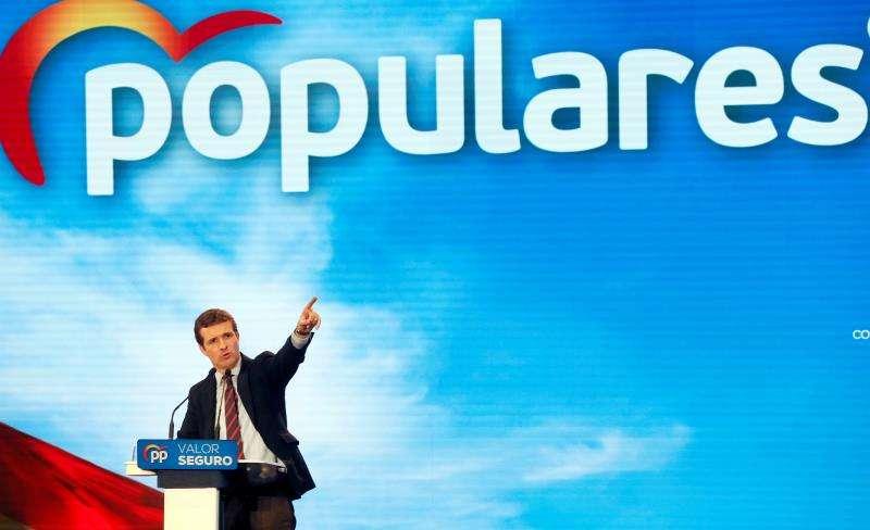 El presidente del Partido Popular (PP), Pablo Casado. / EFE