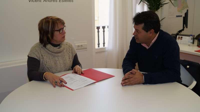 García y Ropero durante su encuentro en la Diputación. //EPDA