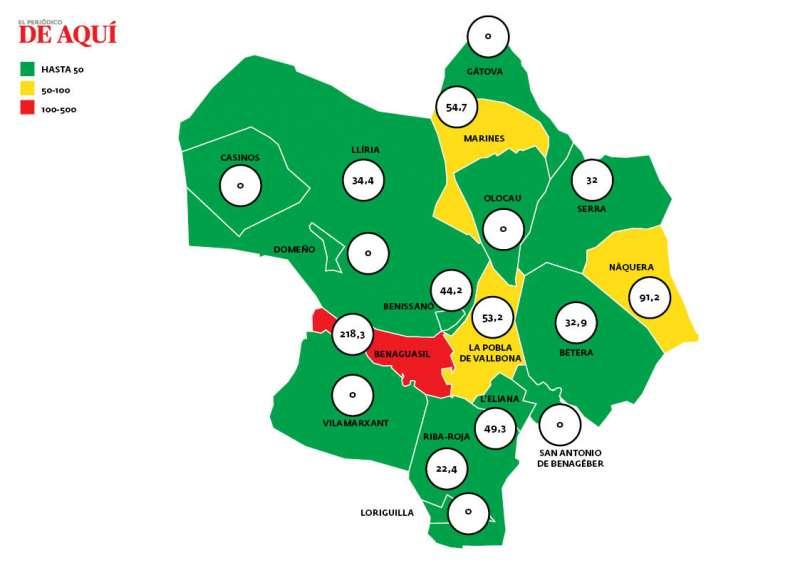 Mapa de incidencia. EPDA.