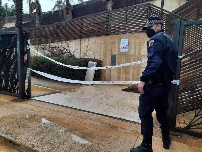 Actuaci�n policial en la Ereta