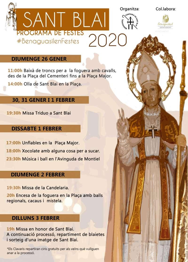 Cartel anunciador de les festes de Sant Blai. / EPDA
