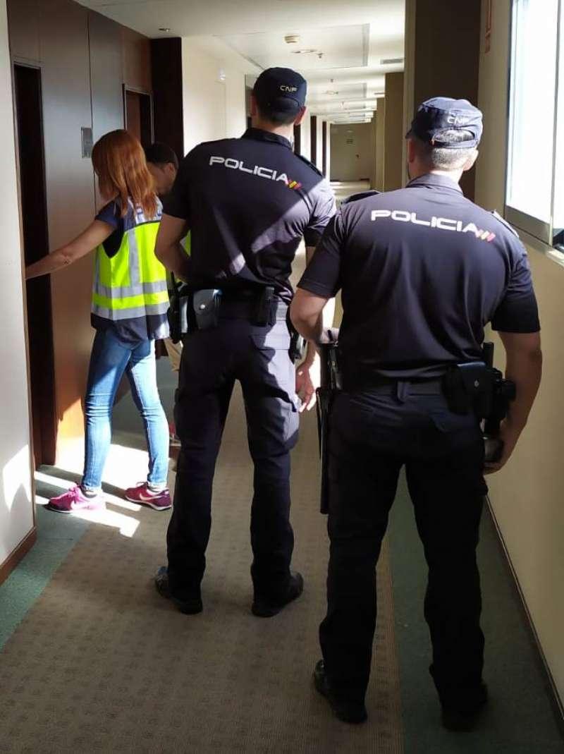 Imágenes de la Policía Nacional durante la detención. EPDA