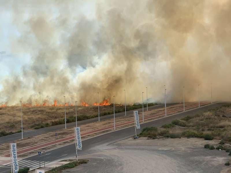 Incendio a las 15.10. P. V.
