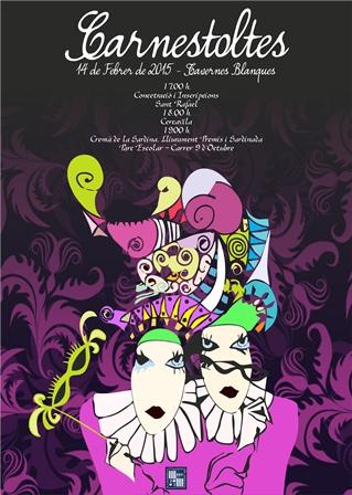 Cartel del Carnaval de Tabernes Blanques. EPDA