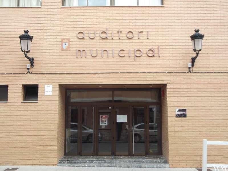 Entrada del Auditorio de Quartell ahora Joaquín Rodrigo. EPDA