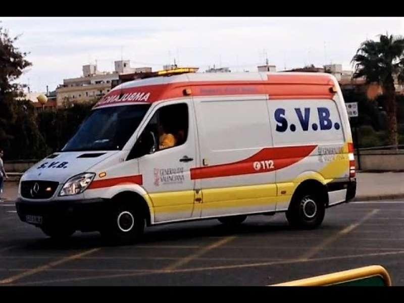 Dos ambulancias de SVB ha acudido al accidente