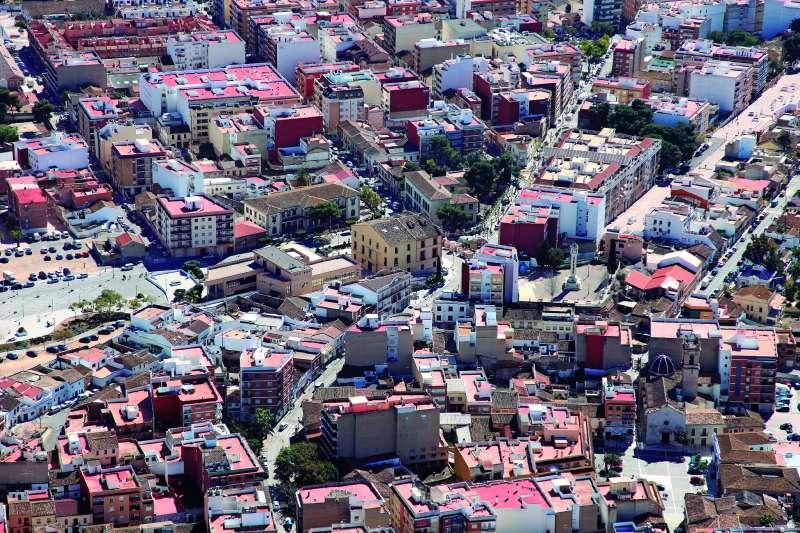 Vista aérea de la localidad de Paterna. / EPDA