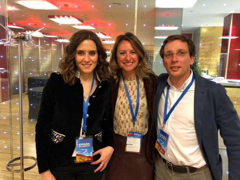 Isabel Díaz Ayuso, Begoña Carrasco y José Luis Martínez Almeida/EPDA