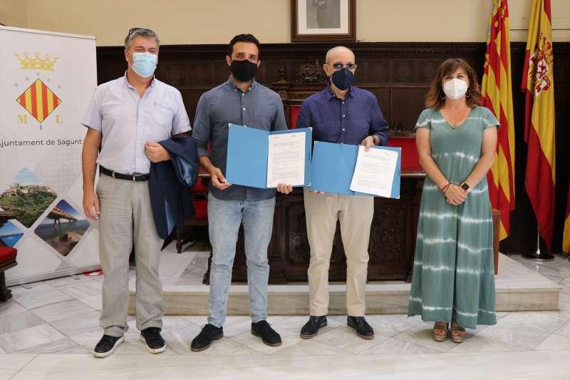 El Ayuntamiento de Sagunto y SECOT firman el convenio. / EPDA