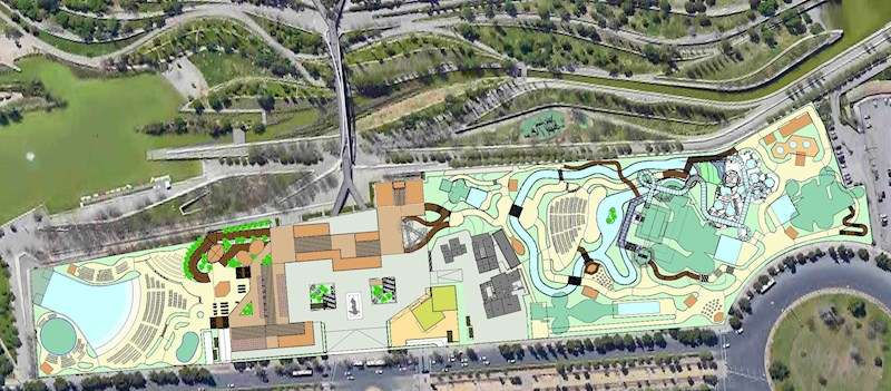 Una imagen del futuro parque, facilitada por la empresa. EFE