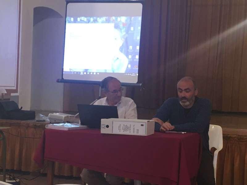 El autor durante la presentación. FOTO EPDA
