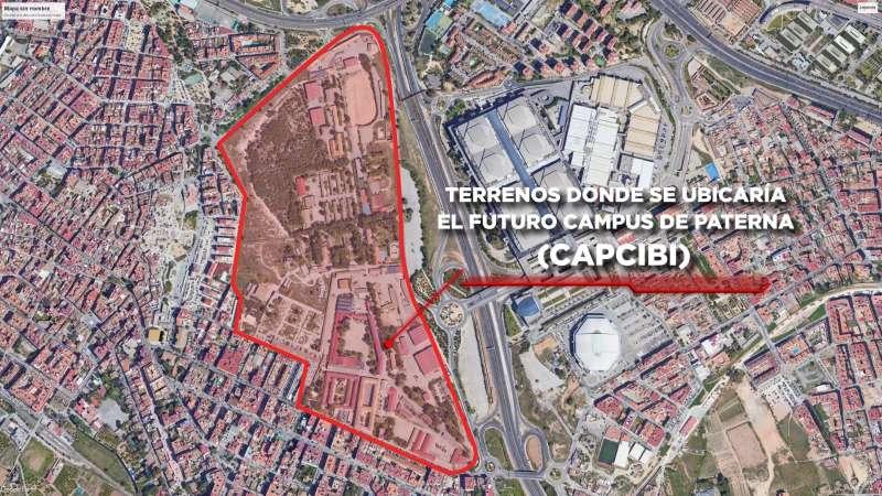 Terrenos militares donde se levantará el campus. EPDA