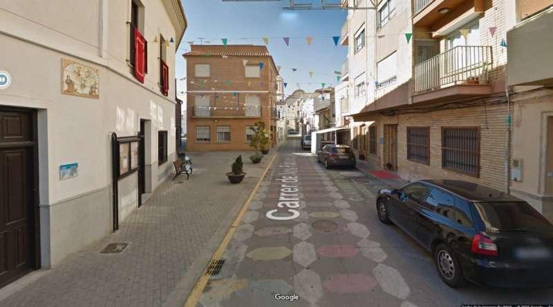 Una calle de Canet d