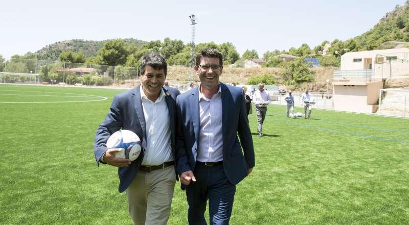 Visita del presidente de la Diputación a Olocau. EPDA
