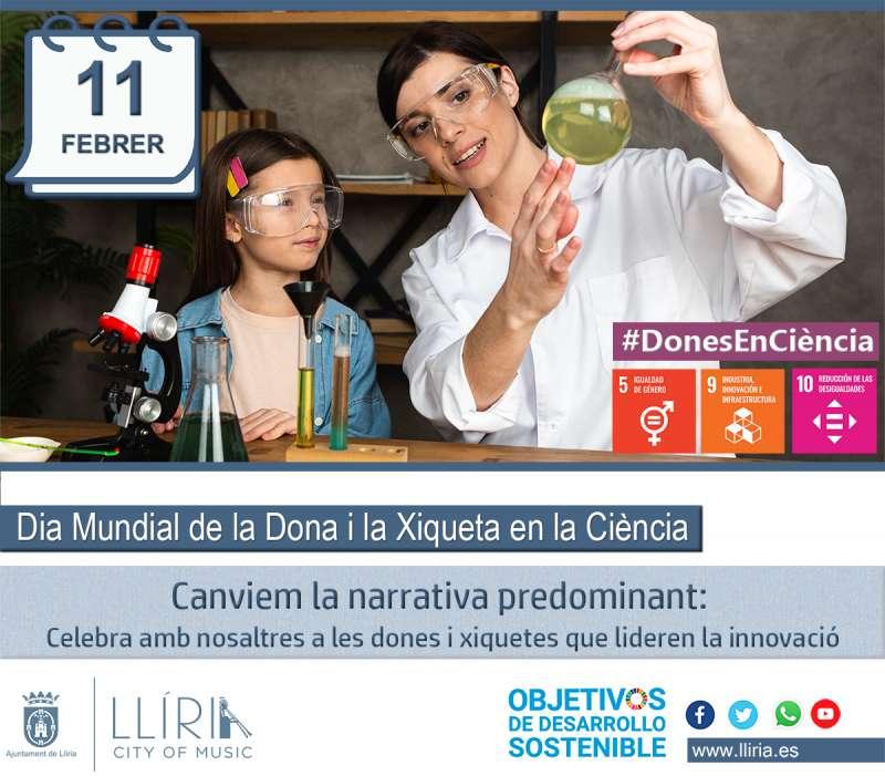Cartel conmemorativo de la Mujer y la Niña en la Ciencia. / EPDA