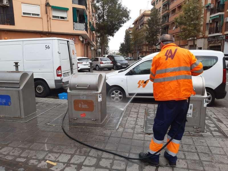 Desinfección de calles en Quart de Poblet