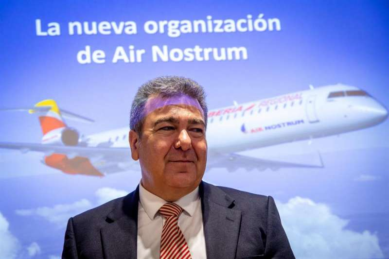 El presidente de Air Nostrum, Carlos Bertomeu, hace un año. EFE/Biel Aliño/Archivo