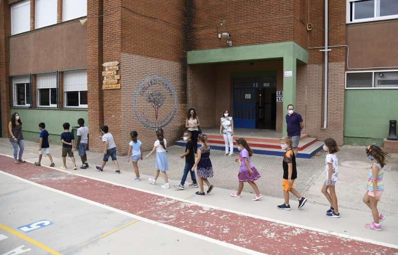Alumnos en un centro de Paiporta. EPDA