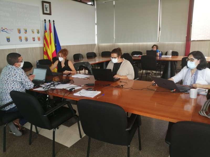 Reunió de treball en la Mancomunitat. / EPDA