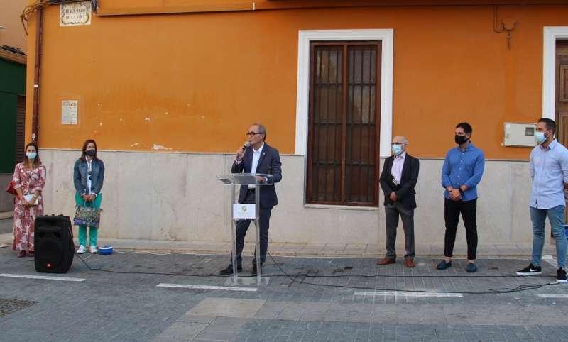Momento del acto en Benaguasil. / EPDA