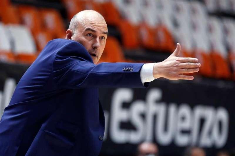 El entrenador del Valencia Basket, Jaume Ponsarnau. EFE/Miguel Ángel Polo/Archivo