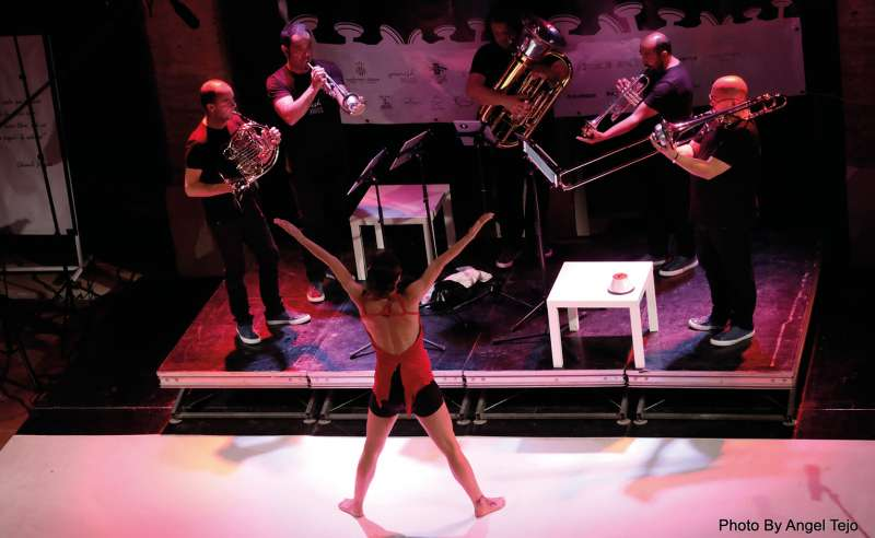 Actuación de Spanish Brass. EPDA