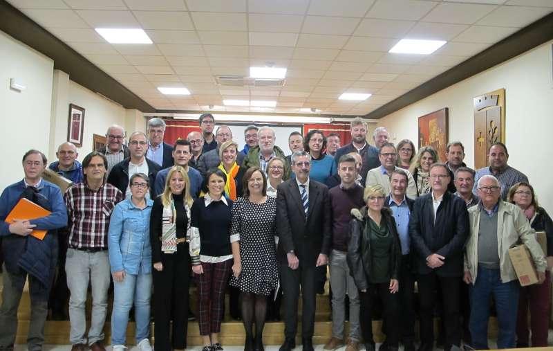 Alcaldes que asistieron a la reunión