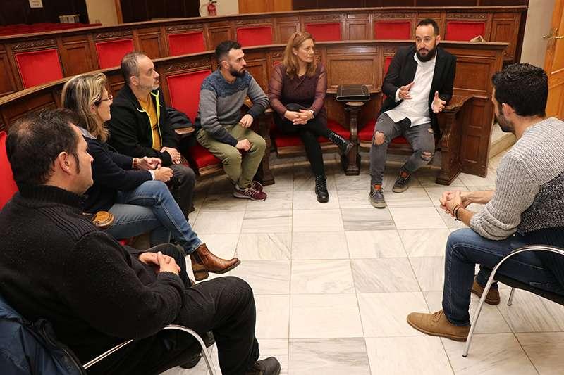Reunió amb els representants dels treballadors de la piscifactoria. EPDA