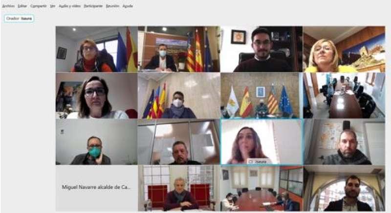 Reunión telemática de alcaldes con Salud Pública. / EPDA