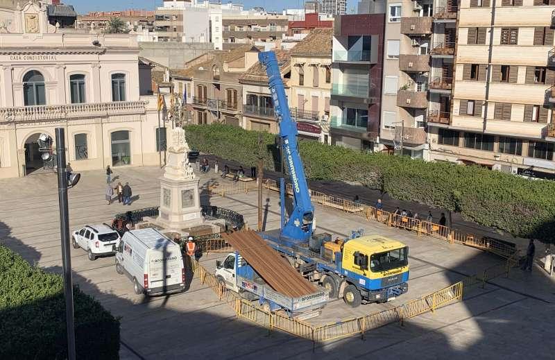 Imagen de las labores de mantenimiento del pozo. EPDA