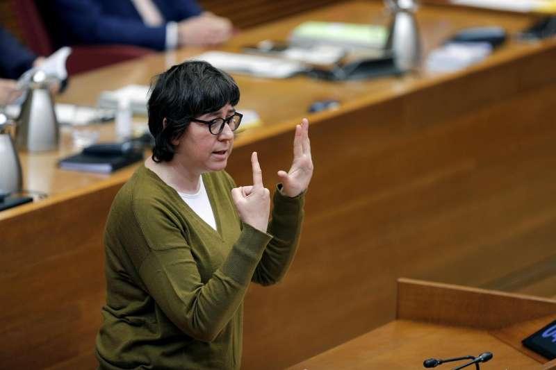 La coordinadora autonómica de Podem en la Comunitat Valenciana, Pilar Lima.