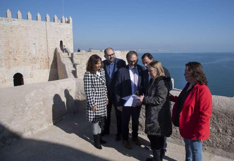 Martí visita el castillo. Foto: Archivo