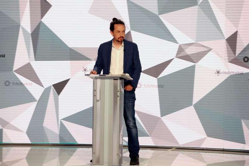 Pablo Iglesias en el debate de Telemadrid. EFE