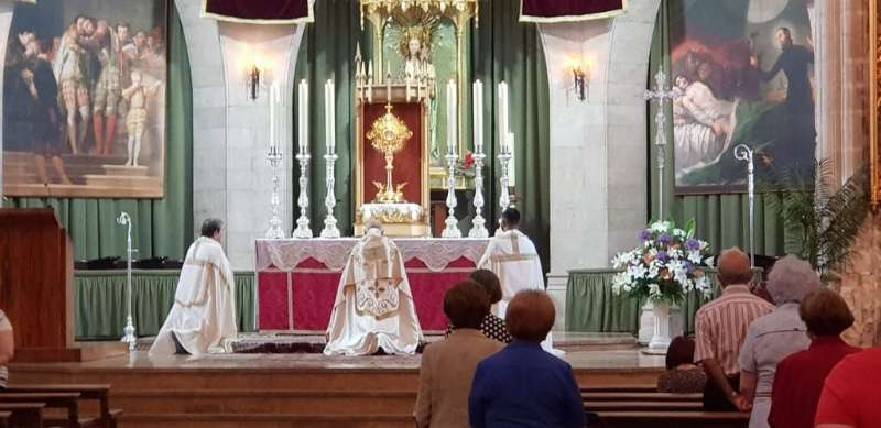 Celebración del Corpus Christi del año anterior.