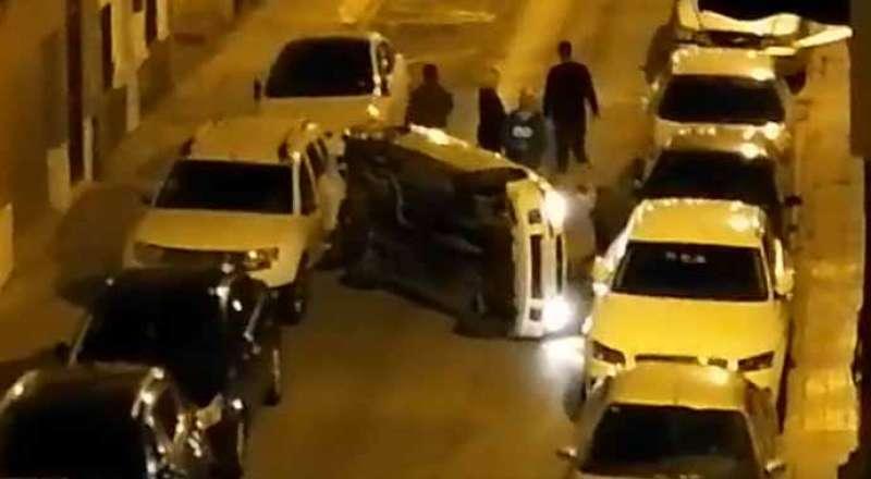 Accidente en la calle Alfambra.