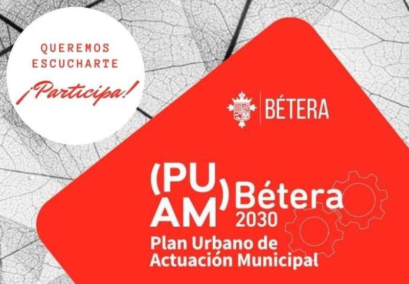 Cartel del Plan Urbano de Acción Municipal de Bétera. / EPDA