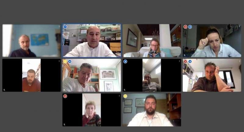 Videoconferencia de los responsables de la Mancomunitat de l