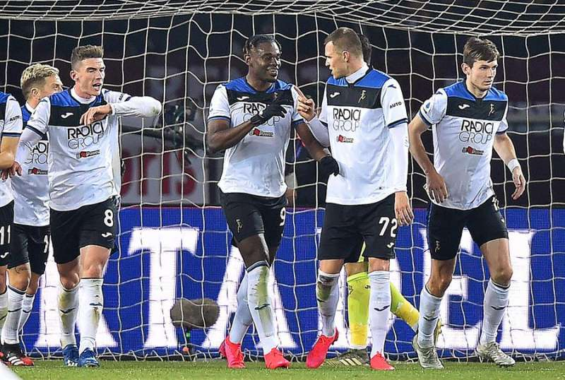Los jugadores del Atalanta celebran un gol. EFE/Archivo