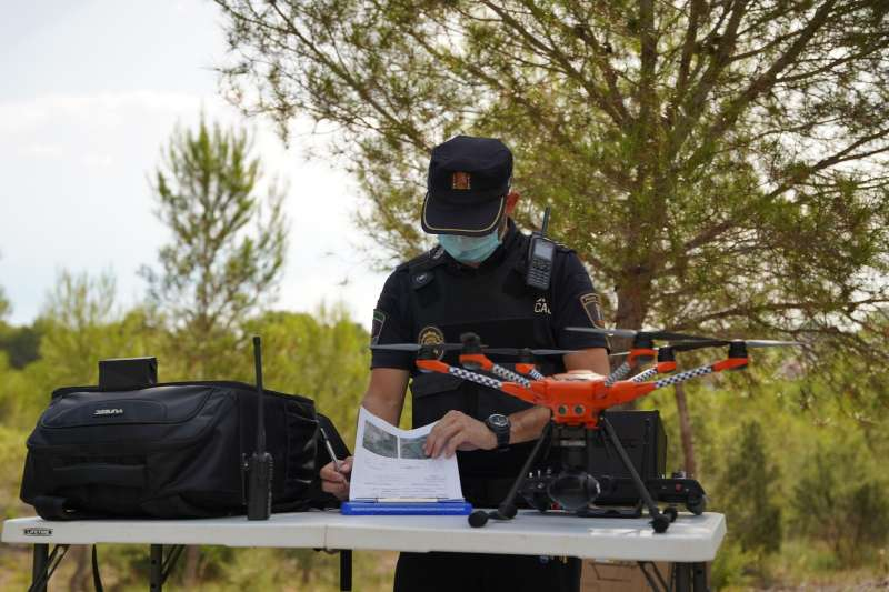Equipo de drones de la Policía Local de Paterna.