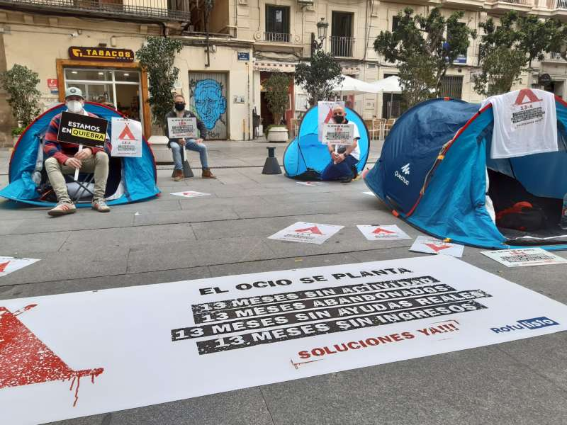 Acampada en el Palau de la Generalitat. CEOH