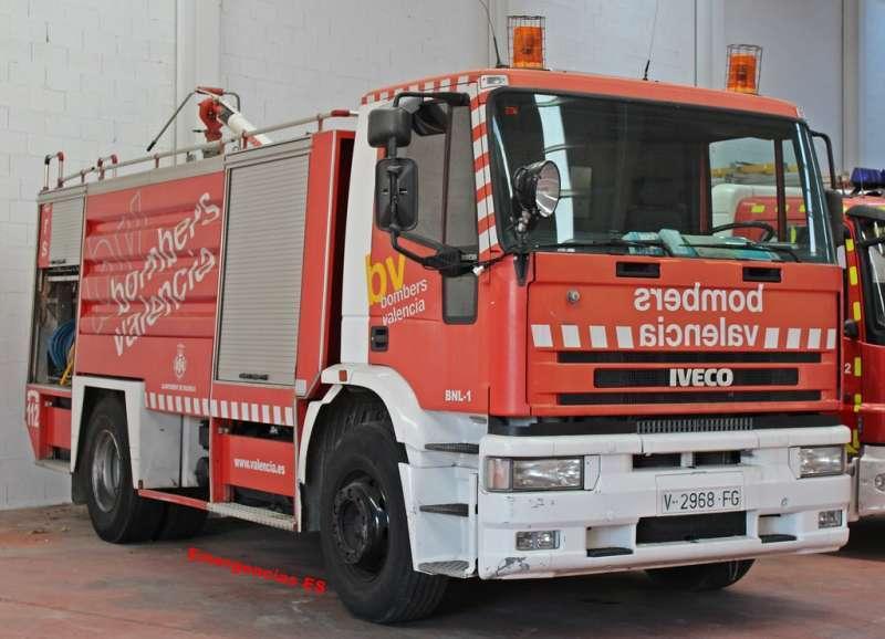 Imagen de archivo de un camión del Consorcio de Bomberos de Valencia. EPDA