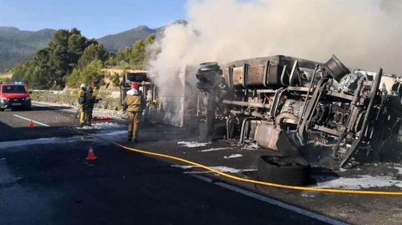 Intervención en el accidente, en una imagen del Consorcio de Bomberos.