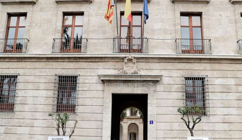 Fachada de la Delegación del Gobierno en la Comunitat Valenciana.