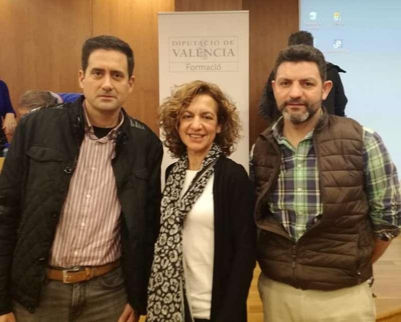 Los tres concejales del PP de El Puig. EPDA