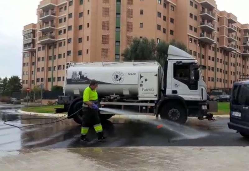 Limpieza de las calles de Paterna. EPDA