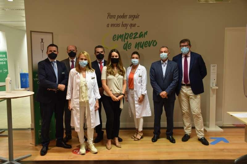 Visita de Zulima Pérez, directora general de Coordinación del Diálogo Social, y Salvador Navarro, presidente de la Confederación Empresarial Valenciana (CEV).