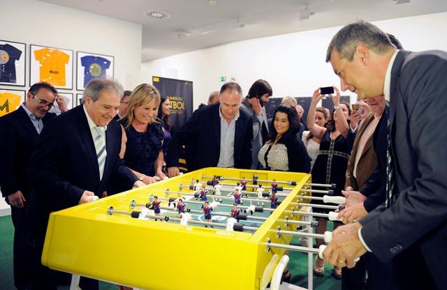 Inauguración de la Exposición El Planeta de Fútbol. Foto: Abulaila.