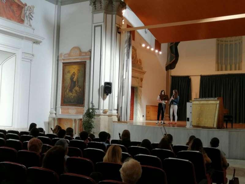 escenari de l?auditori de Sant Agustí.